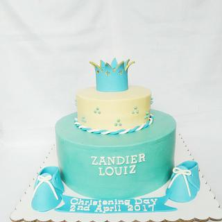 Baby Zandier Christening - Cake by amie