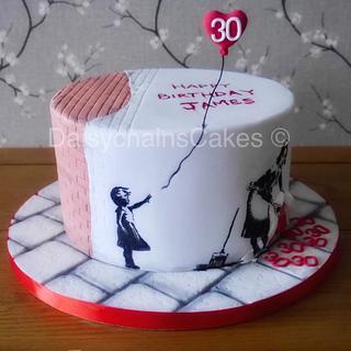 Banksy 30th birthday cake
