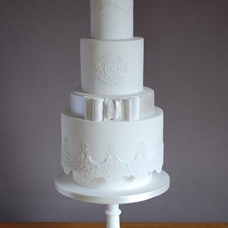 CPC 2nd birthday collaboration- Designer dress wedding cake