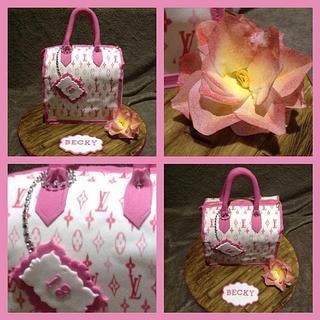 Pink louie vuitton handbag