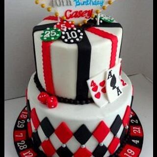 Casino Night Cake