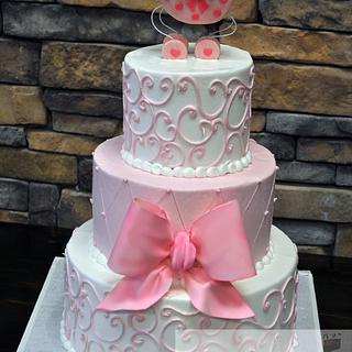 Pink Baby Shower Cake - Cake by Leo Sciancalepore