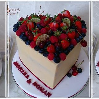 Wedding cake & Heart