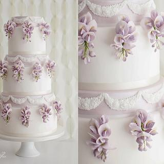 Wisteria Wedding Cake