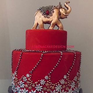 Indian Wedding Cake 5 - Cake by Albena