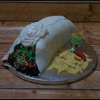 Birthday Burrito Cake