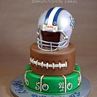 "Vintage ""Dallas Cowboys"" football cake"