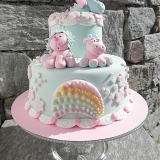 Puppies' rainbow  💙 - Cake by Clara