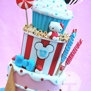 Cake, Ice Cream, Candy and Popcorn