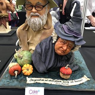Sir Terry Pratchett and Nanny Ogg
