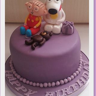 Stewie and Brian Griffin at a Birthday Party