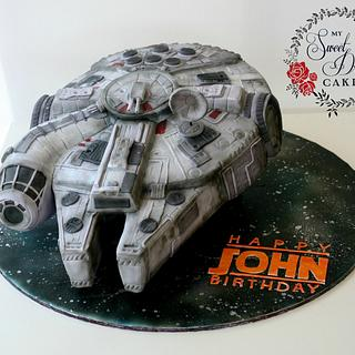Millennium Falcon Cake - Cake by My Sweet Dream Cakes