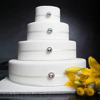 Odd Shaped Wedding Cake - Cake by YourCakeDiva