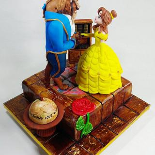 Beauty and the Beast! - Cake by cristinabadea2008