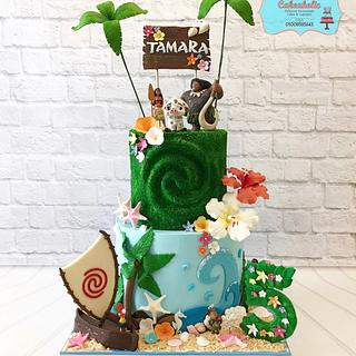 Moana cake by cakeaholic