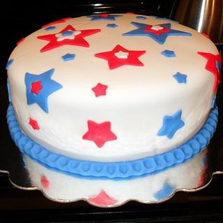 4th of July with a surprise inside - Cake by Dawn Henderson