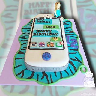iPhone 5 12th birthday cake - Cake by FaithfullyCakes