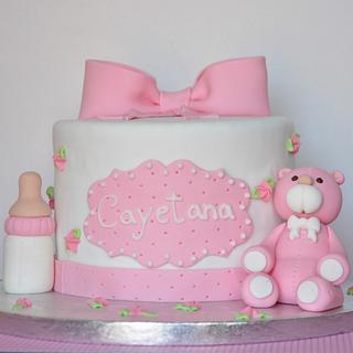 Baptism cake - Cake by En Clave de Azucar