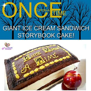 'ONCE UPON A TIME' GIANT ICE CREAM SANDWICH STORYBOOK CAKE!