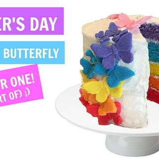MOTHER'S DAY RAINBOW CAKE FOR ONE! (SORT OF ;)
