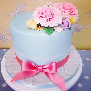 Vintage Floral Cake - Cake by Jade Somers