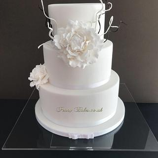 Our white wedding cake