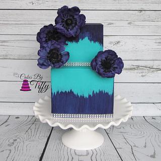 Purple Anemone Bling Cake