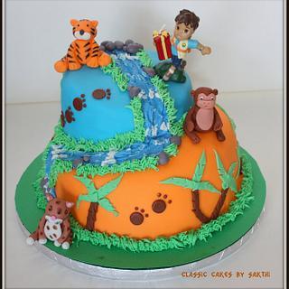 Topsy turvy diego cake