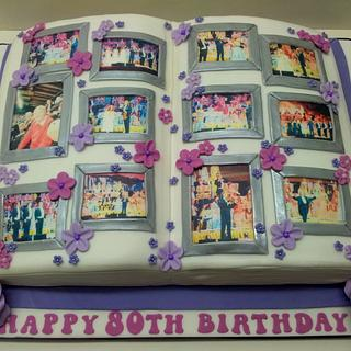 Photo Album Birthday Cake