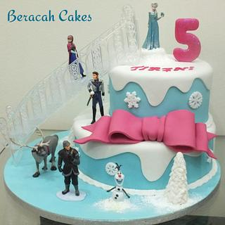 Frozen Fever :) - Cake by Valory