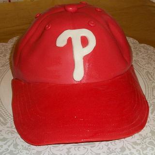 Phillies Cap Cake - Cake by Tracy's Custom Cakery LLC