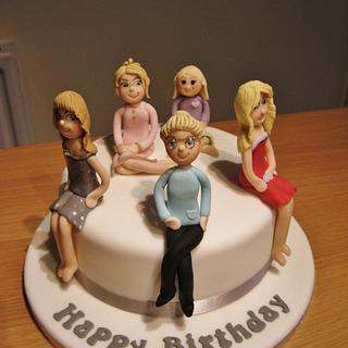 Family of ladies! - Cake by Deborah Cubbon (the4manxies)