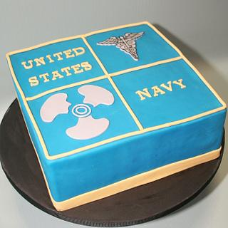 Navy Cake - Cake by Anchored in Cake