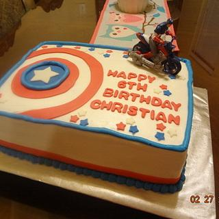 Captain America - Cake by Justsweettreats