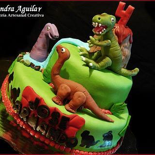 Dinosaur Cake - Cake by Alondra Aguilar