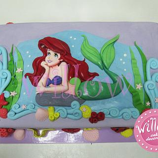 Ariel, little mermaid, cake