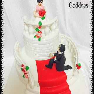 A fairy tale engagement cake❤️