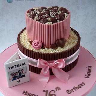 Chocolate Sweet 16 Cake - Cake by Amanda's Little Cake Boutique