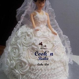 Bridal barbie cake...