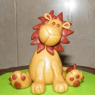 Lion  - Cake by bolosdocesecompotas