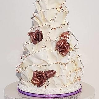 40th birthday surprise modelling chocolate ruffles