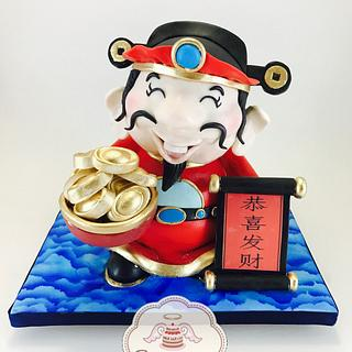 Chinese New Year Cake Collaboration - God of Fortune