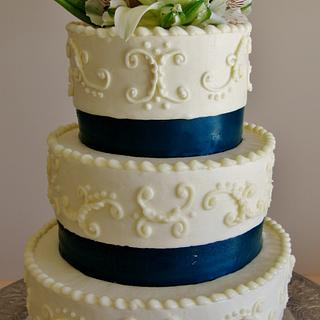 Lily Buttercream wedding cake