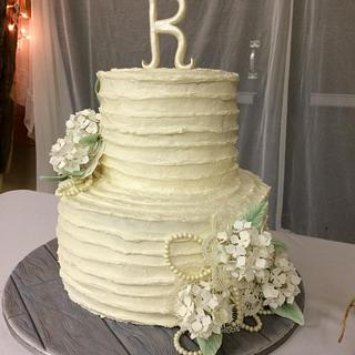 Cream Cheese wedding cake