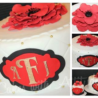 Monogram Wedding Cake - Cake by Viviana & Guelcys