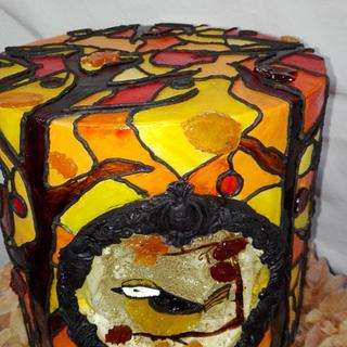 Stained Glass Autumn challenge - Cake by Sabrina Mattia