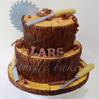 Wood effect cake