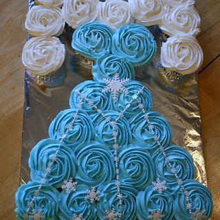 Elsa Frozen Cupcake Dress - Cake by Michelle