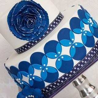 Blue wedding cake - Cake by Bellaria Cake Design
