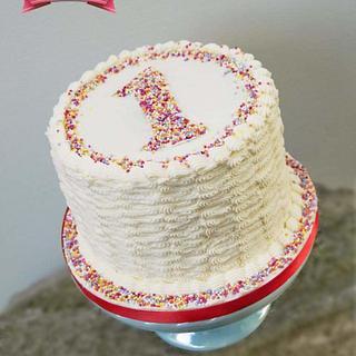 Sprinkle Smash Cake